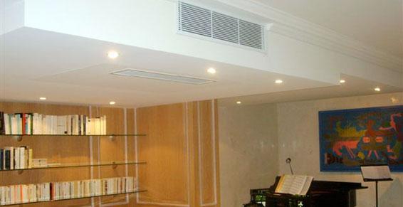 Climatisation gainable salle de musique