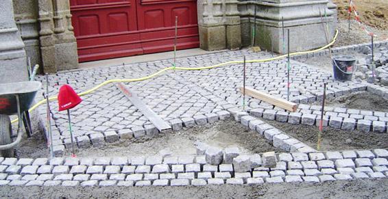 travaux publics - pose de pavés granit