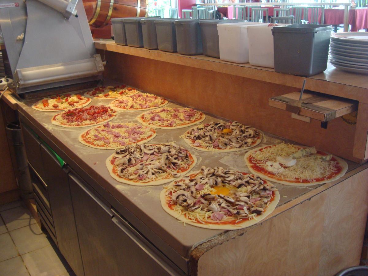 Préparation pizzas