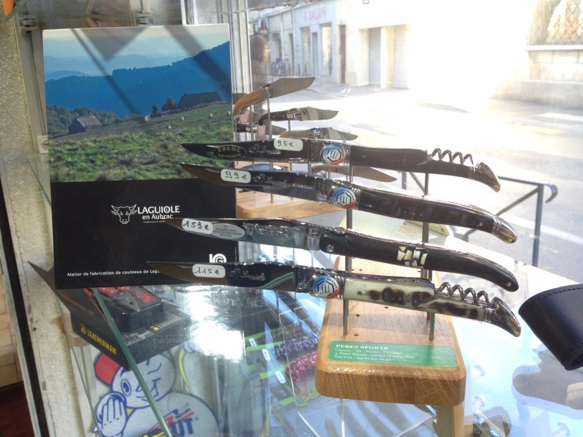 Véritable couteaux Laguiole magasin Armes et loisirs Perez sports Mont