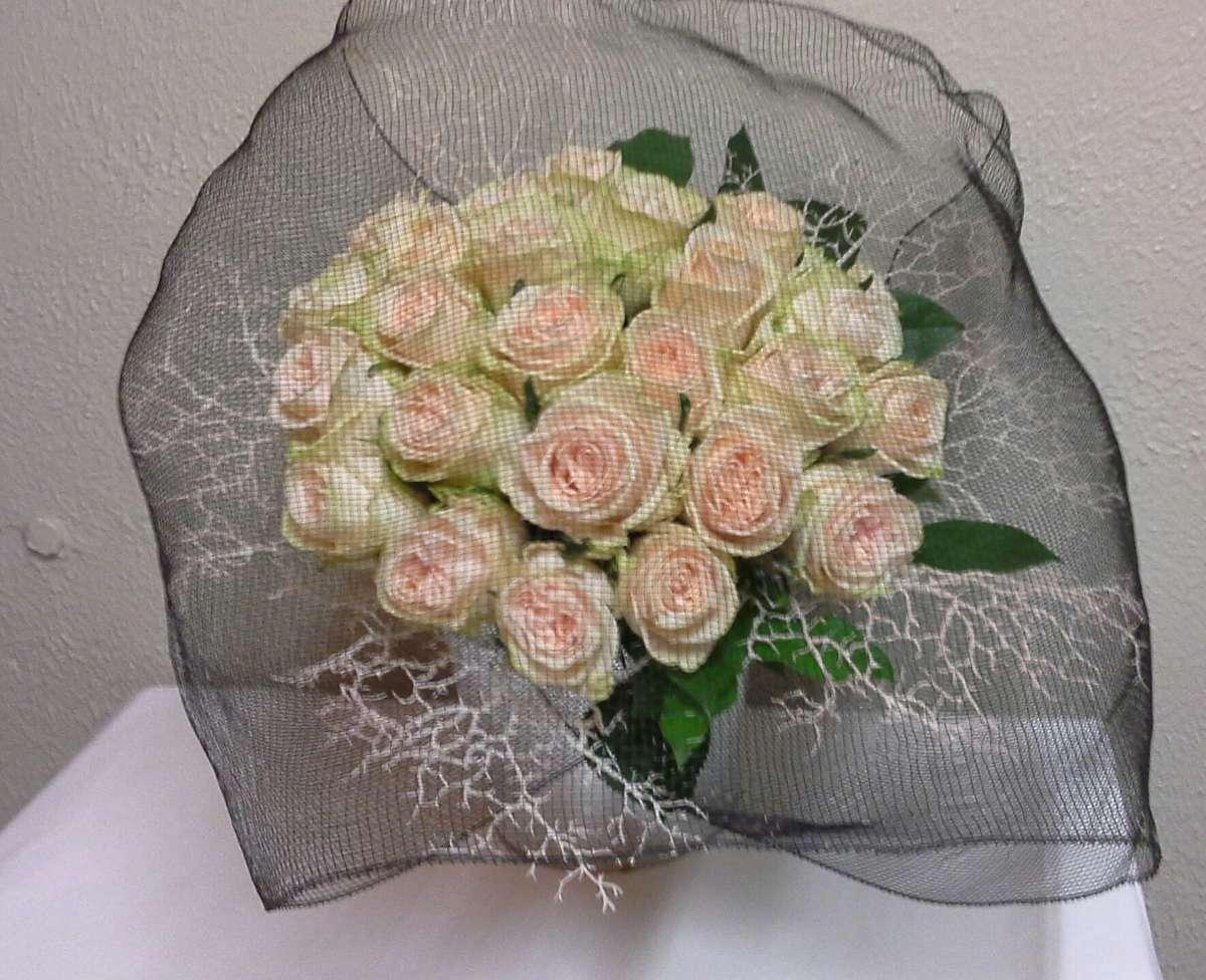 Roses sous voilette