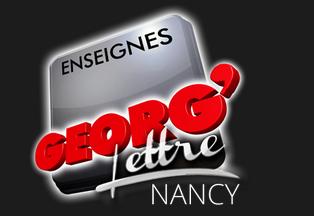 Enseignes publicitaires à Nancy