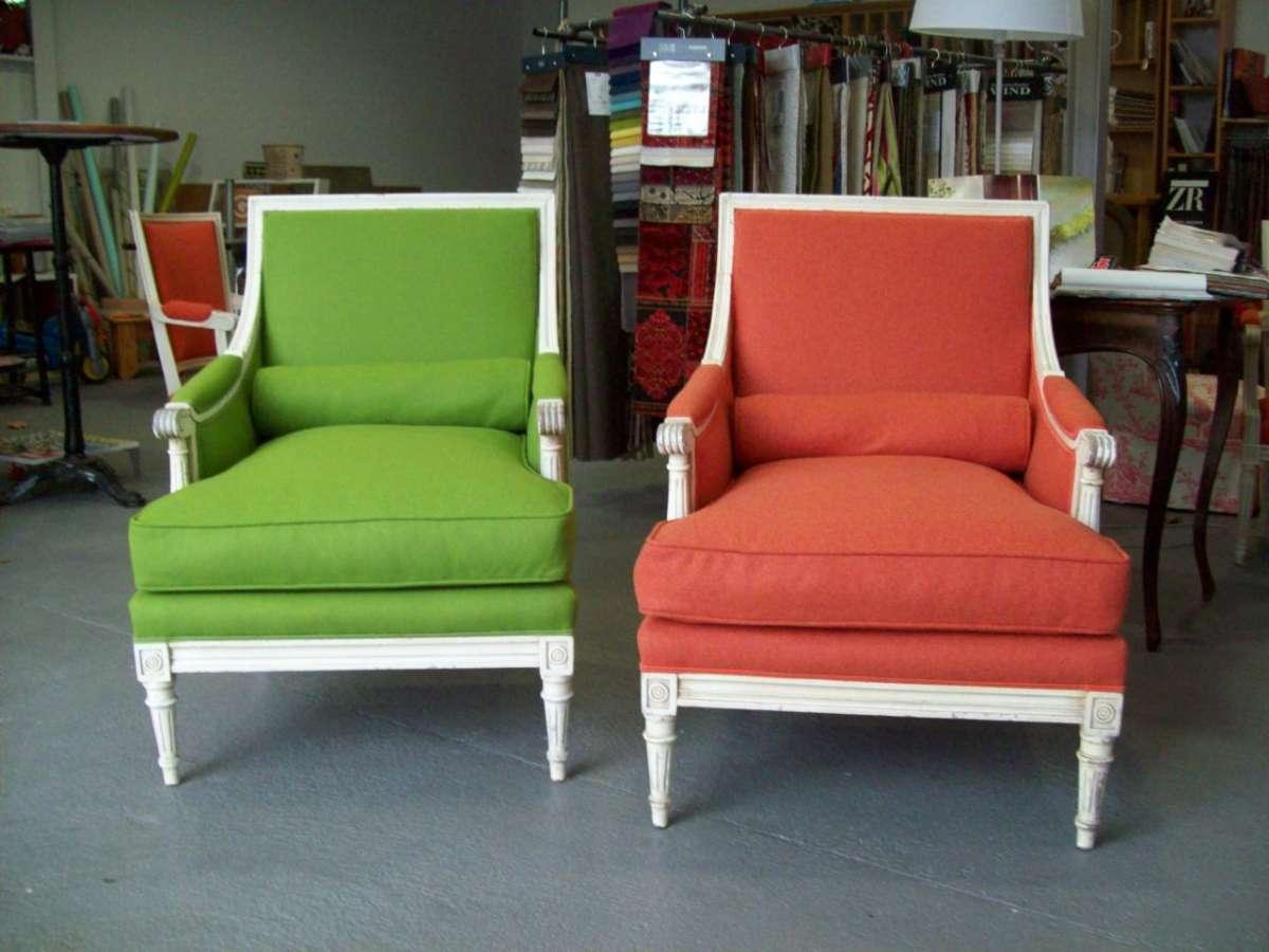 Deux fauteuils Tapissier décorateur à Bayonne