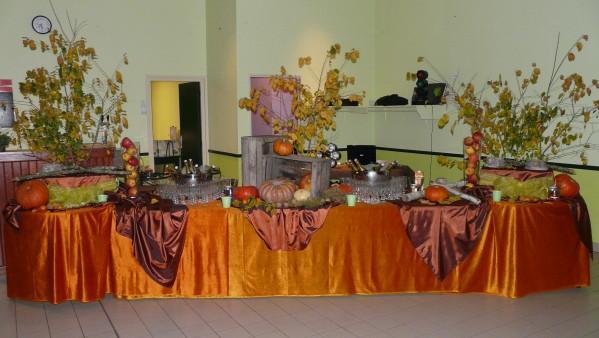 Buffet d'automne, organisé par le traiteur LT