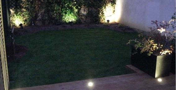 aménagement jardin de ville et terrasse