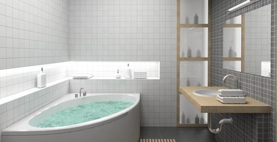 Salles de bains installation, agencement - baignoire balnéo