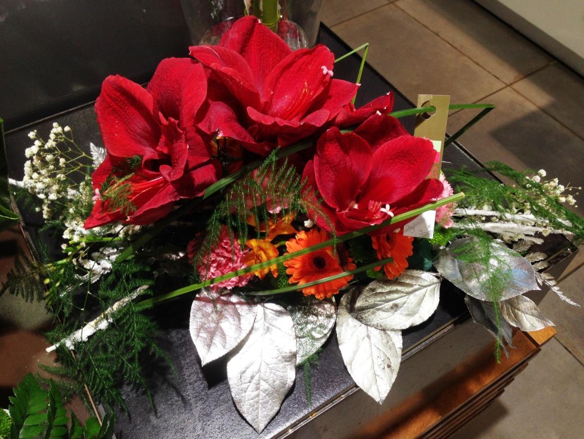 Fleurs pour décoration de table Noël Lola Fleurs Ales
