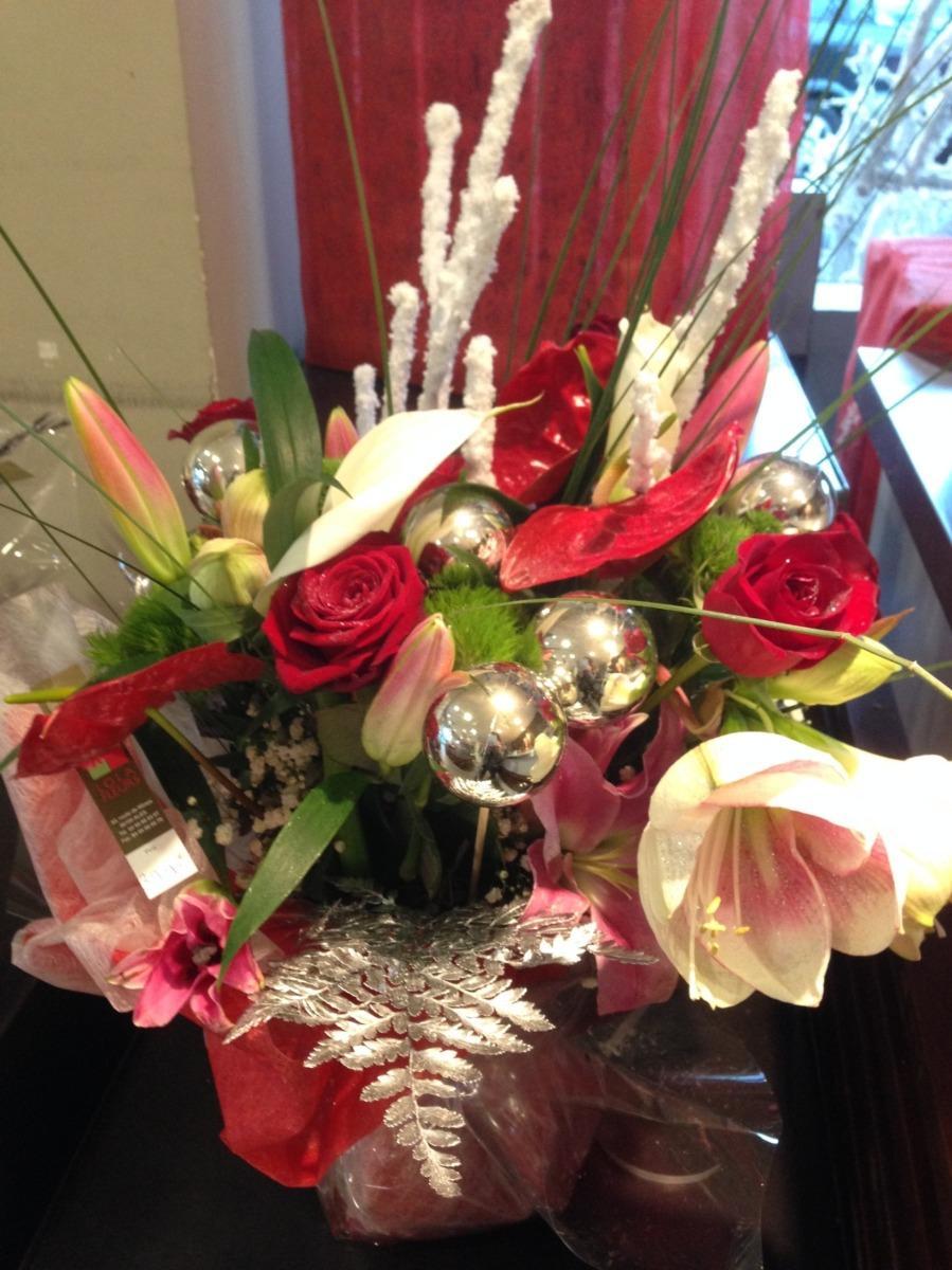 Composition fleurs Noël Ales Lola Fleurs