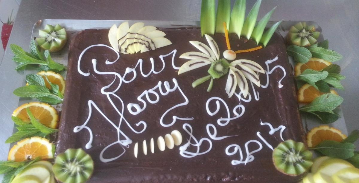 Gâteau anniversaire de l'Auberge de la Régordane à Solignac-sur-Loire
