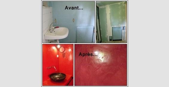création salle de bain avec tadelakt