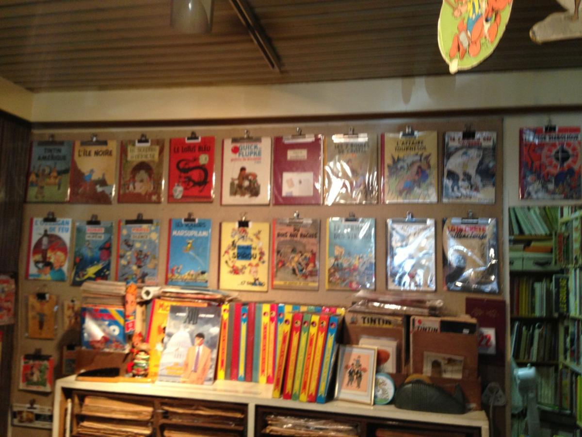 Librairie Lutece - Panneau bandes dessinées anciennes - Paris