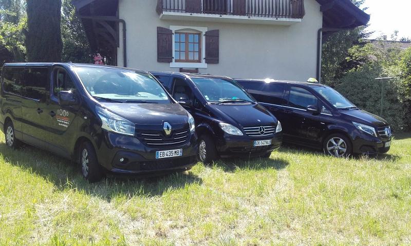 Les 3 minivans étincelants à disposition