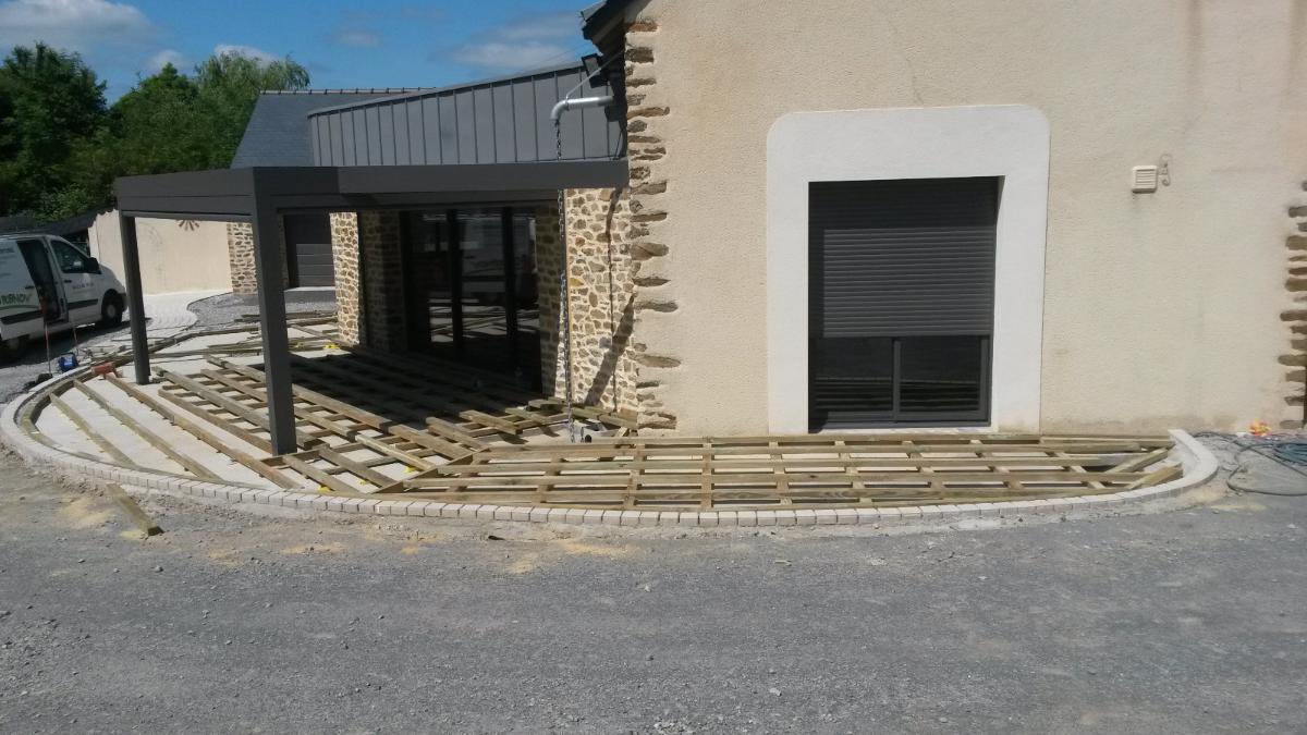 Calepinage préparation terrasse