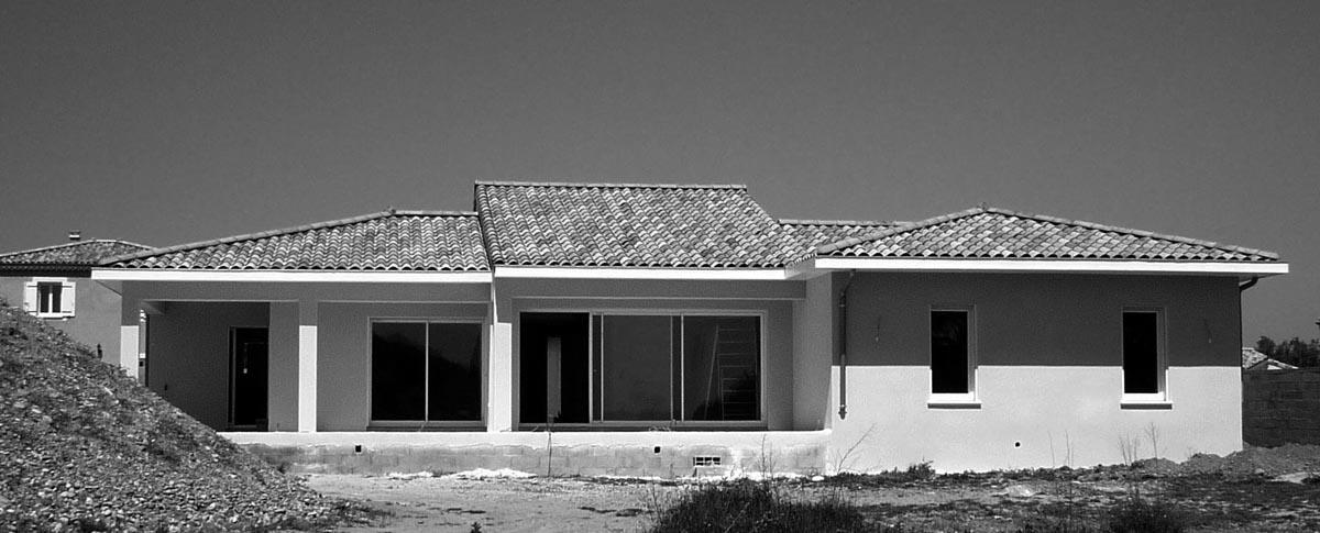 7- Maison semi contemporaine avec mezzanine / Projet en cours