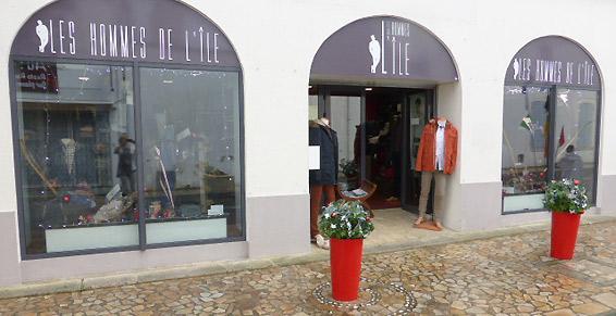 Les Hommes de l'Ile à Saint-Pierre-d'Oléron, Vêtements hommes