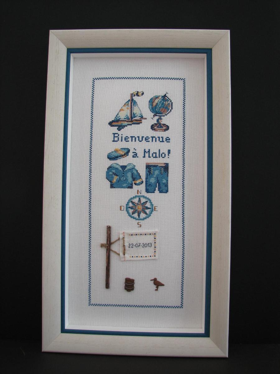 Point de croix sur moleton - Passion Cadres à Orgeval