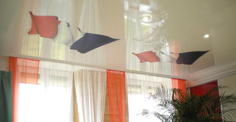 plafond tendu salle des mariages - Mairie ardennaise