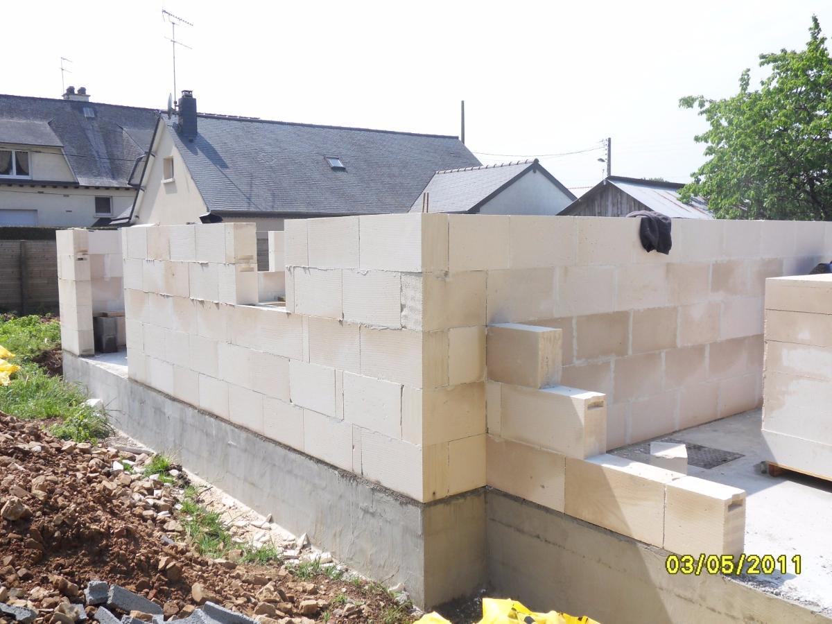 Construction d'une maison neuve à Fougères