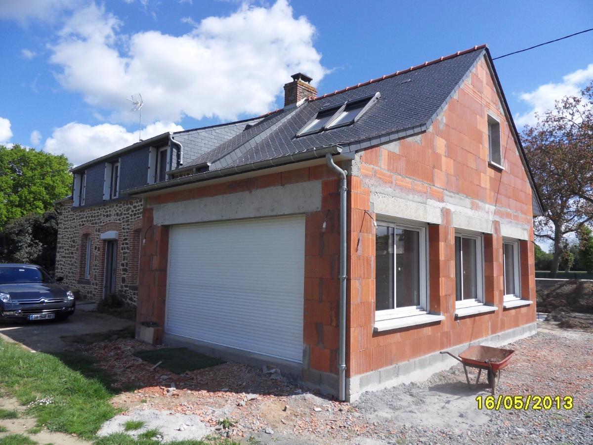 Réalisation d'une extension de maison à Fougères