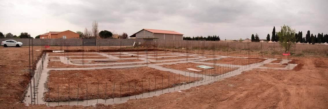Fondations chambre funéraire de Bessan