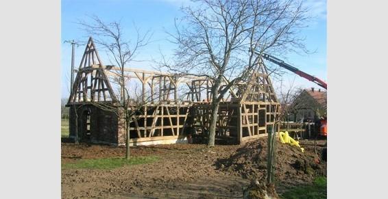 construction maison à colombages