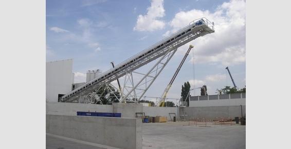 transporteur de stockage bande largeur 1000  Alpro Construction France