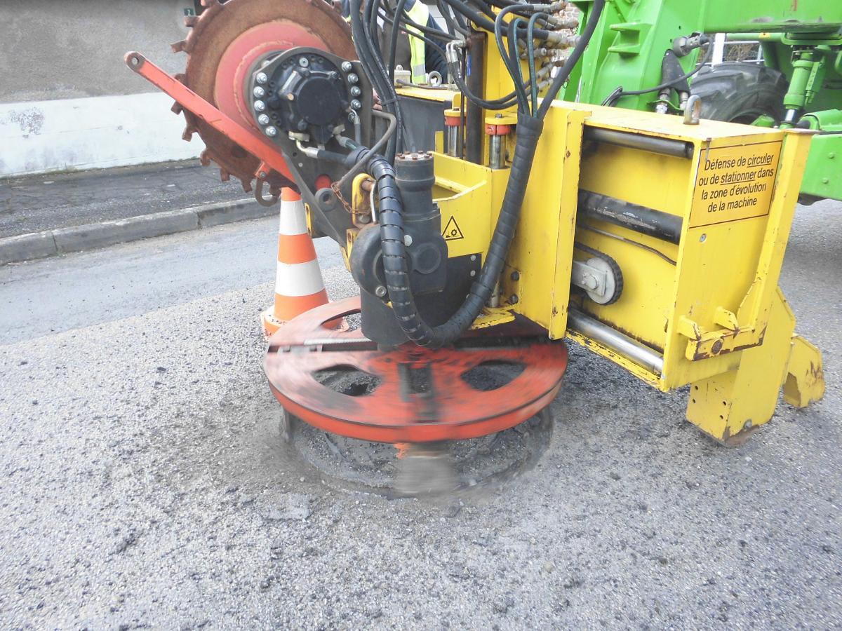 Fraiseuse pour mise à niveau de tampon BMTP Limoges