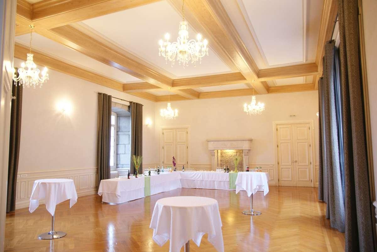 Grand salon Château de Bouthéon Loire
