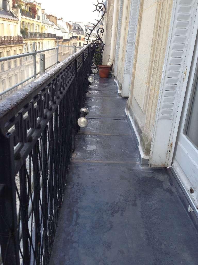 Balcon plomb rue de Tolbiac PARIS 13ème CLV Couverture à Bourg la Reine
