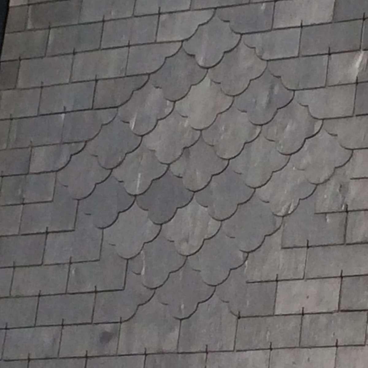 Motif décoratif sur brisis ardoise CLV Couverture à Bourg la Reine