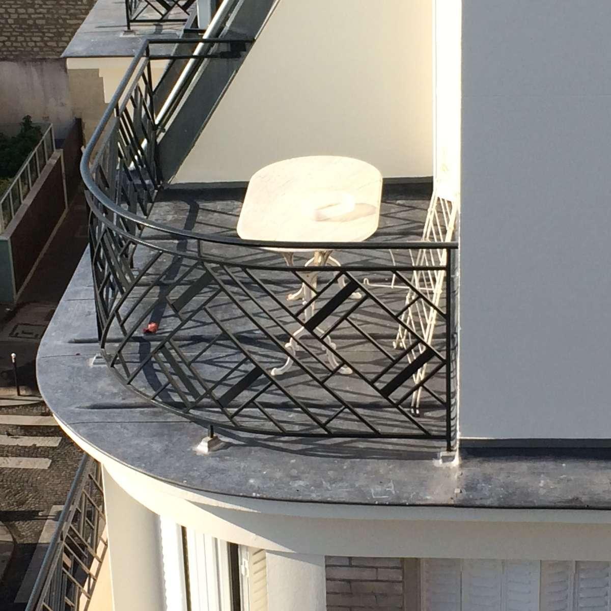 Terrasse plomb rue Clairaut PARIS 17ème