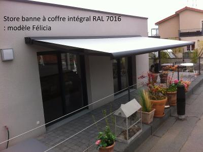 Store banne Félicia anthracite