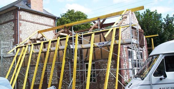 Rénovation de charpente à l'ancienne en Haute-Normandie