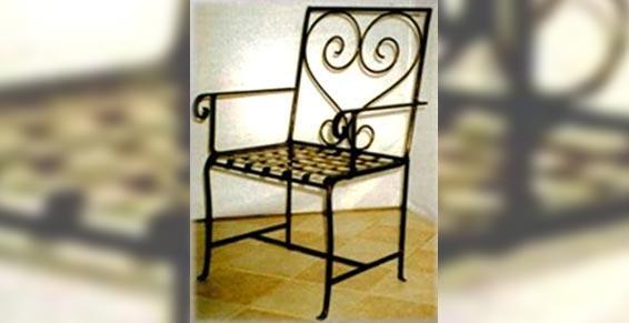 Midi Métal - Ferronnerie d'art - chaise en fer