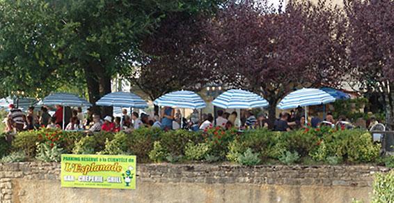 L'Esplanade, crêperie et restaurant à Rocamadour
