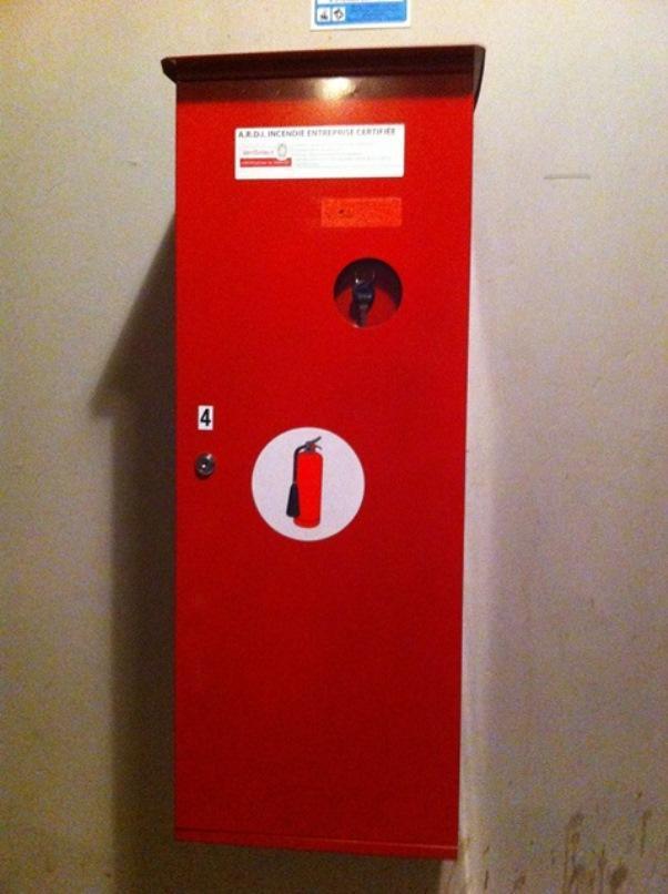 armoire coffret extincteur Ardi sécurité incendie