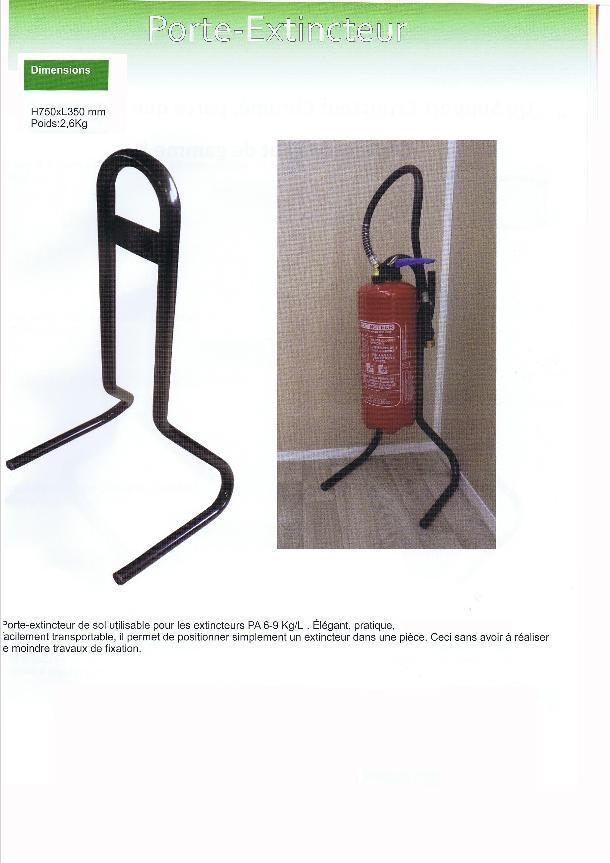 support extincteur Ardi securite incendie