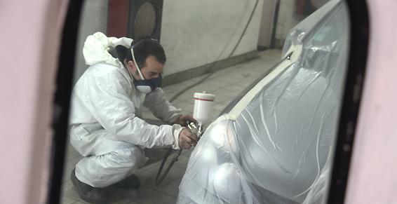 Carrosserie, peinture automobile - Cabine de peinture équipée