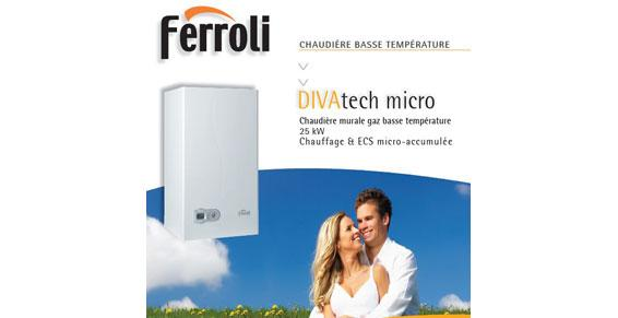 Chaudière murale gaz basse température - DIVAtech micro