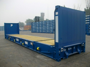 40 pied flatrack collapsible