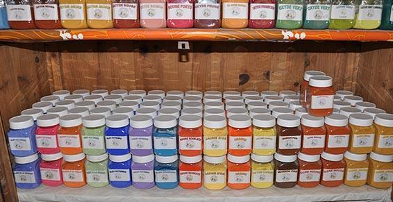 Pigments des Peintures Mont-Ventoux