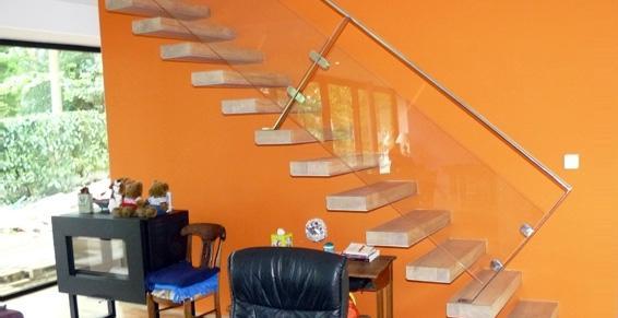 Brodu Frédéric Sarl - escalier bois droit