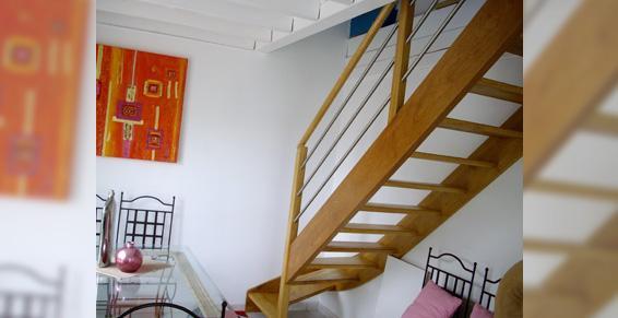 Brodu Frédéric Sarl - escalier bois quart tournant
