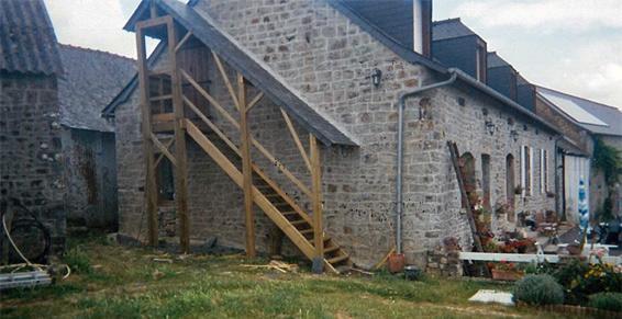 Escalier sur mesure extérieur-Lucarnes