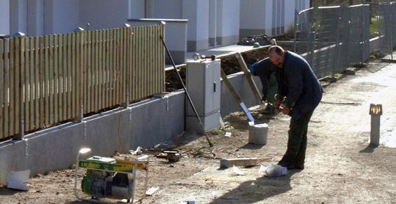 clôtures et barrières - installation d'une clôture