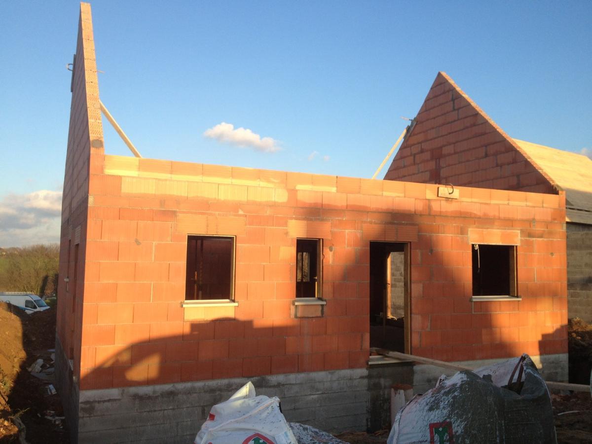 Maison en Brique Rouge Porotherm